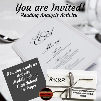 Reading Analysis Activity: You are Invited!