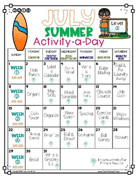 Activity-a-Day Summer Calendar: Grade 5 and Above (2017 Edition)