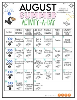 FREE! Summer Calendar: Gr. 5 and Above (2018 Edition)