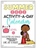 Activity-a-Day Summer Calendar: Preschool - Grade 1 (2017