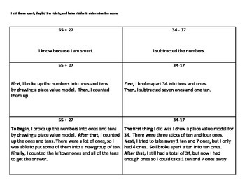 Activity and Assessment for Explaining Mathematical Thinking