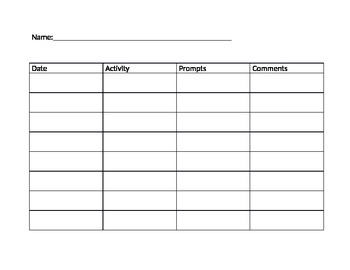 Activity data sheet