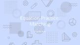 Activity - equation practice: matching - 6th math