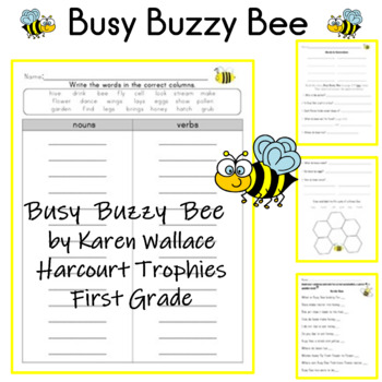 Busy Buzzy Bee by Karen Wallace Harcourt Trophies for First Grade