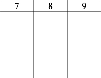 Activity for Numbers 1-12