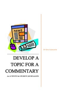 Activity for Student Journalists: Develop a Topic for a Commentary