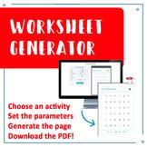 PDF Worksheet Generator (14 fully customizable activities)
