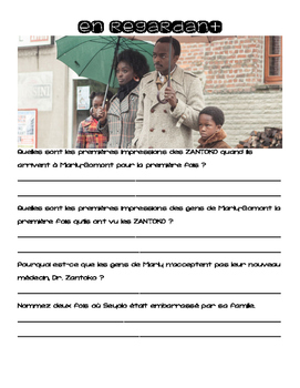 Activity packet for the film, THE AFRICAN DOCTOR / BIENVENUE A MARLY-GOMONT