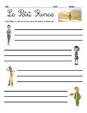 Activity/questions for the 2015 film, LE PETIT PRINCE / TH