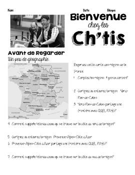 Activity/questions for the film: BIENVENUE CHEZ LES CH'TIS