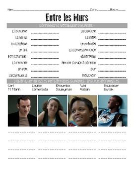Activity/questions for the film: ENTRE LES MURS / THE CLASS