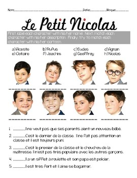 Activity questions for the film le petit nicolas by french and fancy - Le petit nicolas film ...