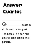 Activity to practice and review Spanish question words