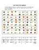 French Fruits and Vegetables Activity Based on Sudoku