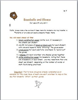 Baseballs and Gloves for Any Skills Practice