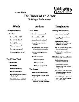 Actor Tools Handout