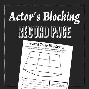 Actor's Blocking Record Handout