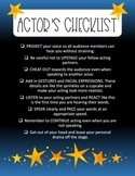 Actor's Checklist Poster/Printable
