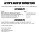 Actor's Warm Up Instructions
