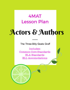 Actors & Authors use The Three Billy Goats Gruff
