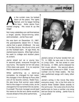 Actors: High-Interest / Low Readability Celebrity Biographies