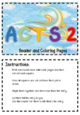 Acts 2 Reader and Coloring Book