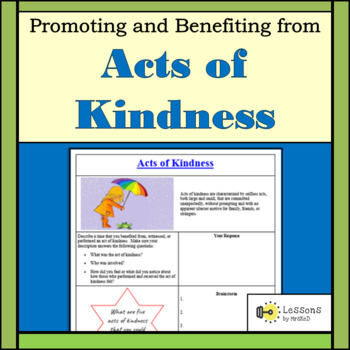 Promoting and Benefiting from Acts of Kindness