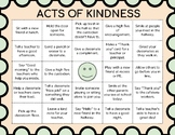 Acts of Kindness BINGO - Build Classroom and School Culture