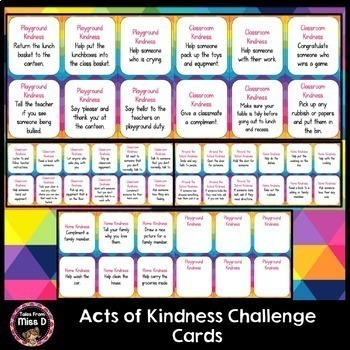 Acts of Kindness Challenge Cards