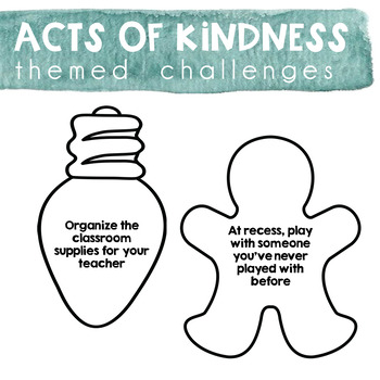 Acts of Kindness Challenge - December & Christmas Theme