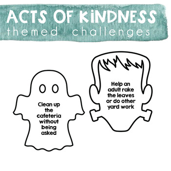 Acts of Kindness Challenge - Halloween Theme
