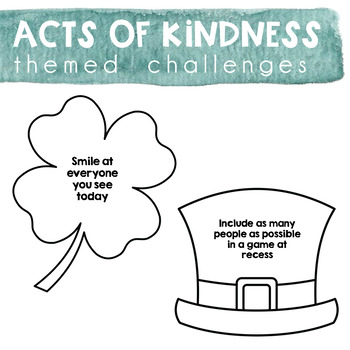 Acts of Kindness Challenge - Saint Patrick's Day Theme