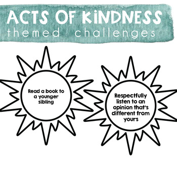 Acts of Kindness Challenge - Spring & Summer Theme