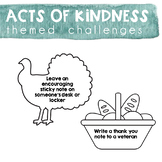 Acts of Kindness Challenge - Thanksgiving Theme