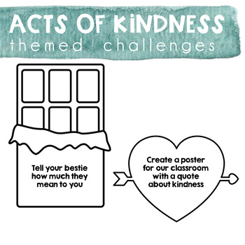Acts of Kindness Challenge - Valentine's Day Theme
