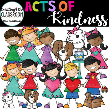 Acts of Kindness Clip Art Growing Bundle {Kid Clip Art}