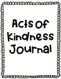 Acts of Kindness Journal