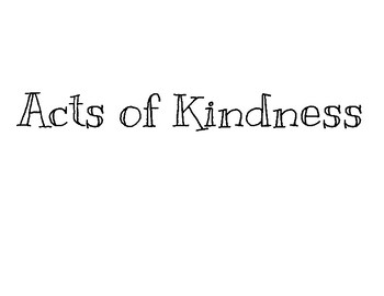 Acts of Kindness Poster