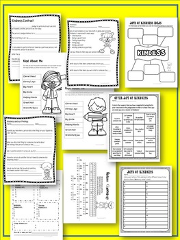 Acts of Kindness Worksheets-Ages 6-9