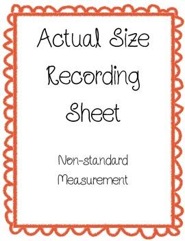 Actual Size Measurement