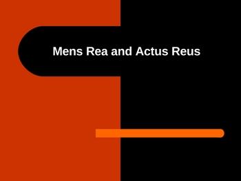 Actus Reus and Mens Rea - Criminal Law