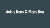 Actus Reus and Mens Rea Powerpoint