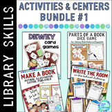 Library Skills Activities for Centers BUNDLE #1 for the Library Media Center