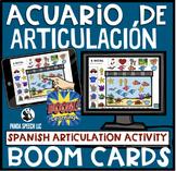 Acuario de Articulación Spanish Articulation BOOM Cards fo