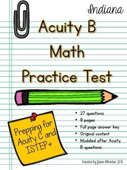Acuity B Math Practice Test / Acuity C Prep