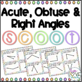 Acute, Obtuse & Right Angles SCOOT! Game, Task Cards or Assessment 4.G.A.1