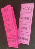 Acute, Obtuse, Right & Straight Angles (Foldable)