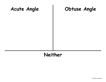 Acute and Obtuse Angles Sorting Game
