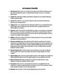 Ad Analysis Checklist