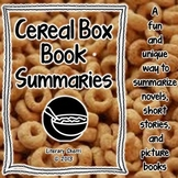 Book Activities for Any Book: Cereal Box Summaries (Grades